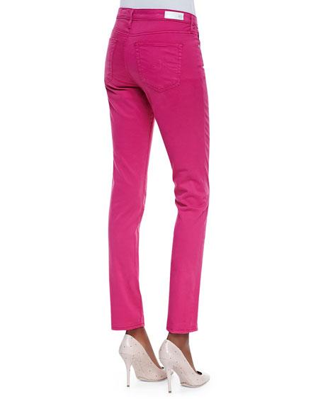 Prima Mid-Rise Cigarette Jeans, Magenta
