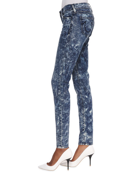 Abbey High-Rise Super Skinny Jeans, Sparkling Ice