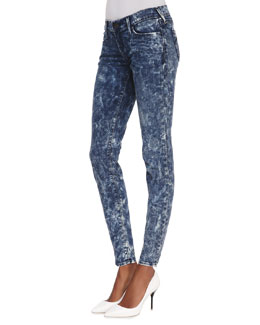 True Religion Abbey High-Rise Super Skinny Jeans, Sparkling Ice