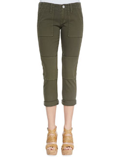 True Religion Surplus Military Cropped Skinny Jeans