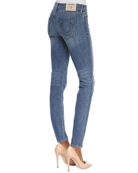 Chrissy Ten Line Mid-Rise Ankle Skinny Jeans
