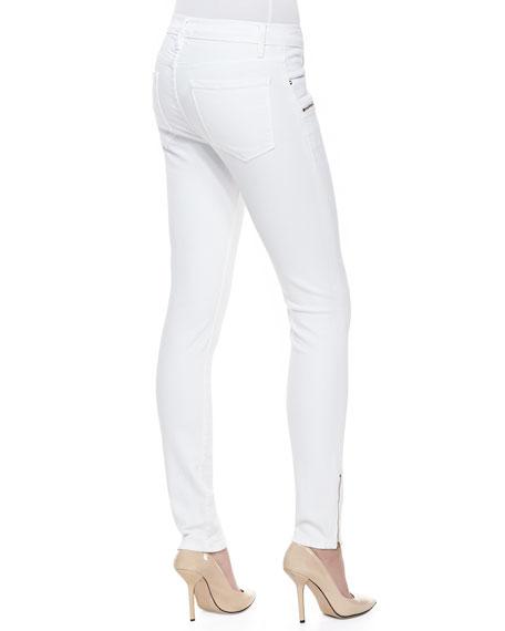 Le Skinny Zip-Pocket Jeans, Blanc