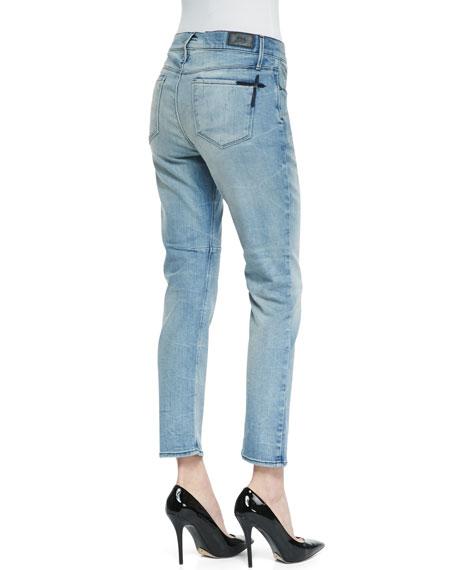 Vintage-Wash Boyfriend Jeans