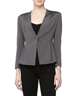 Donna Karan V-Neck Cardigan Jacket, Geode