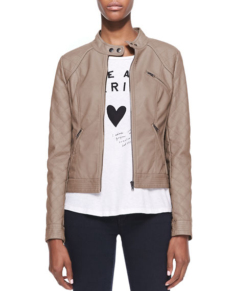 Malt Quilted Faux-Leather Jacket