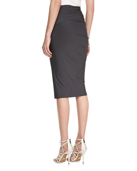 Jersey Draped Skirt, Carbon