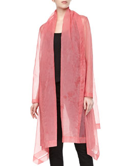Donna Karan Organza Clutch Coat, Rose Quartz