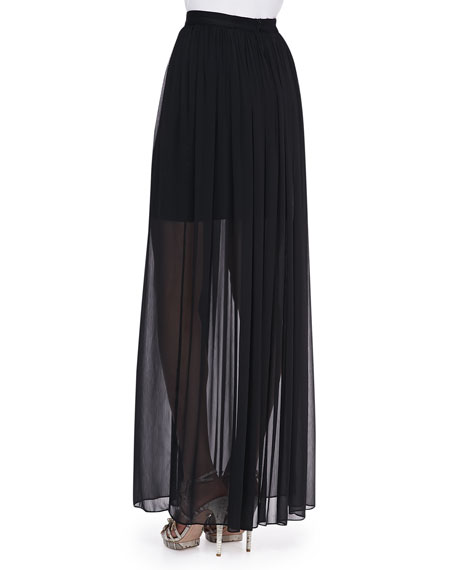 Maxi Skirt with Mini Underlay