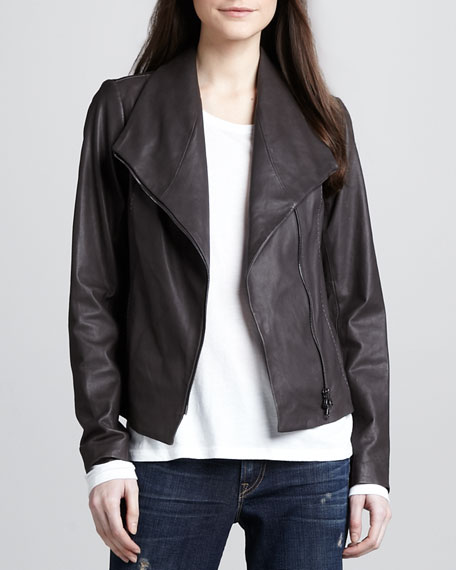 Leather Scuba Jacket, Ash