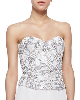 Alice + Olivia Ivy Beaded Sweetheart Bustier