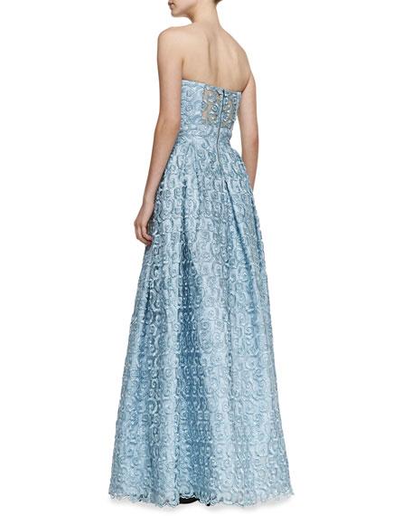 Kamila Swirly Strapless Gown