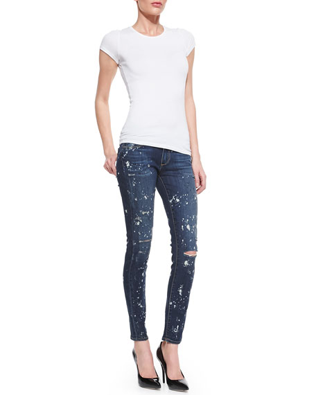 Verdugo Ultra Skinny Jeans, Distressed