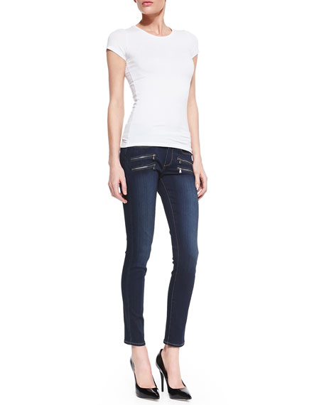 Edgemont Transcend Zip-Pocket Skinny Jeans