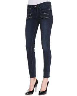 Paige Denim Edgemont Transcend Zip-Pocket Skinny Jeans