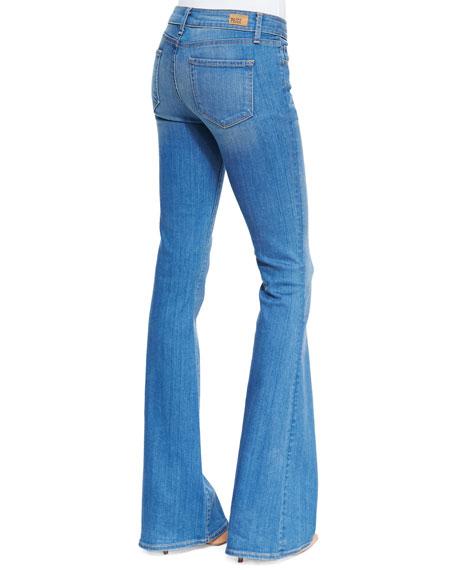 Fiona Harrison Whiskered Flared Denim Jeans