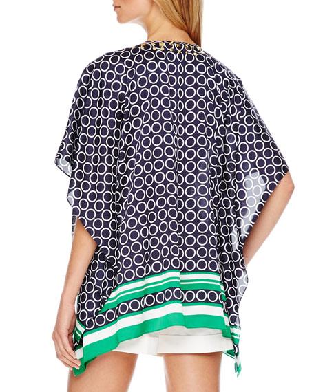 Studded Printed Flutter Top, Women's