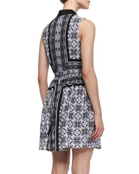 Sleeveless Printed Georgette Shirtdress