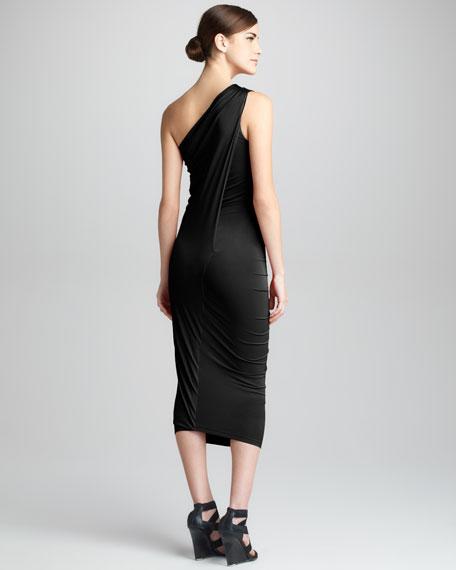 One-Shoulder Jersey Cocktail Dress