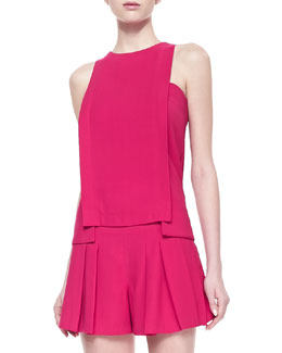 Thakoon Addition Layered Sleeveless Crepe Top
