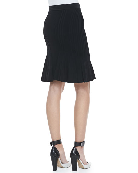 Suspension Long Pleated Skirt