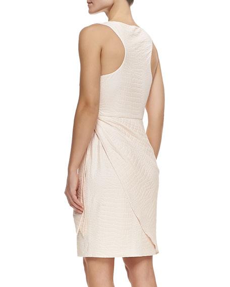 Crocodile Jacquard Wrap Dress