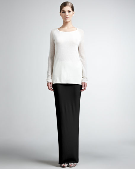 Cashmere Long Skirt