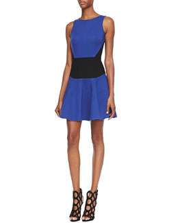Tibi Sleeveless Flirty Knit Dress