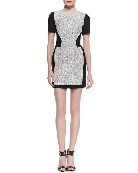 Tweed Short-Sleeve Dress