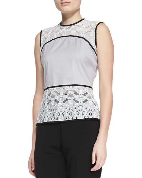Elise Embroidered Lace Top
