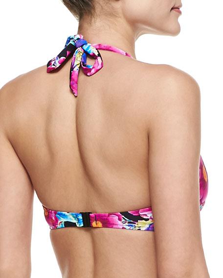 Paradiso Floral-Print Halter Swim Top