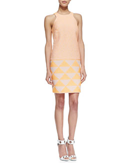 Trina Turk Aptos Mixed-Print Sleeveless Dress