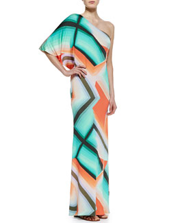 Trina Turk Sausalito One-Shoulder Maxi Dress