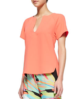 Trina Turk Pearle Short-Sleeve Top