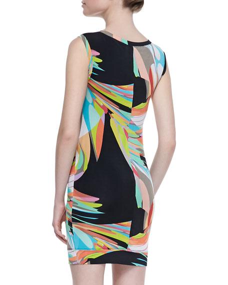 Sleeveless Zinnia Dress, Multicolor