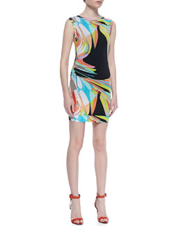 Trina Turk Sleeveless Zinnia Dress, Multicolor