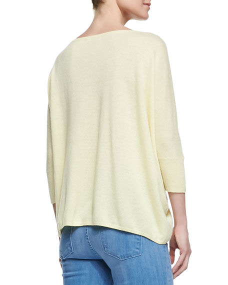 Boat-Neck Knit Pullover, Buttercup