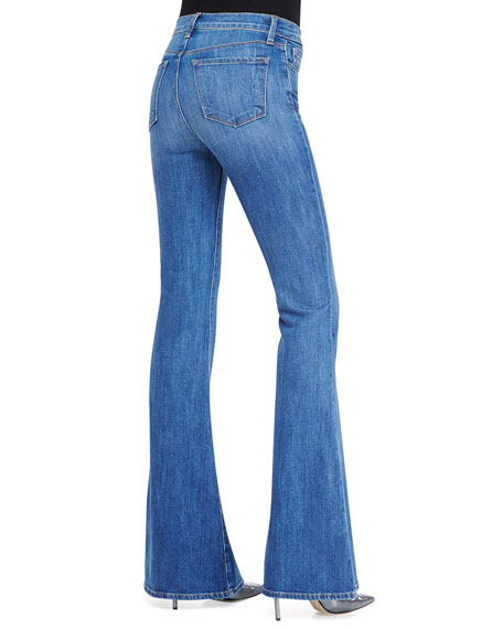 Valentina High-Rise Flare Jeans, Sail