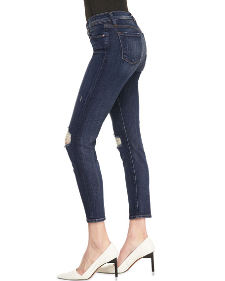 835 Misfit Mid-Rise Destroyed Cropped Skinny Jeans