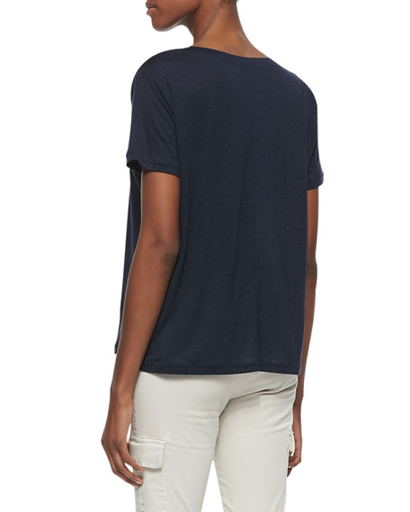 Janis Jersey V-Neck Drapey Tee