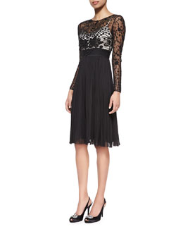 Catherine Deane Long-Sleeve Lace A-Line Dress