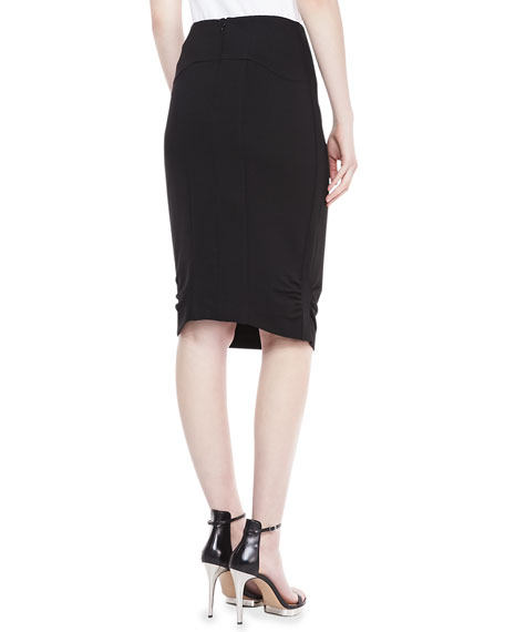 Ponte Pencil Skirt, Black
