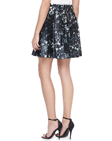 Mineral-Print A-line Skirt