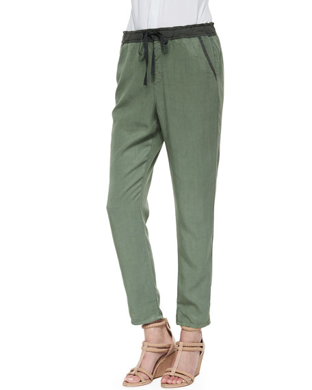 Drawstring Weekend Pants, Sulfur Basil
