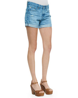AG Adriano Goldschmied Hailey Ex-Boyfriend Roll-Up Shorts, Evasion