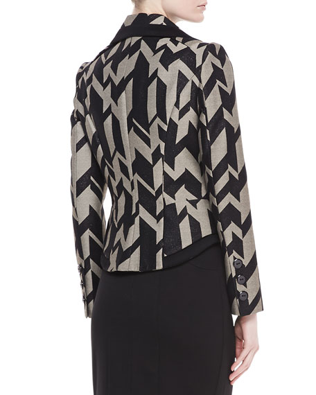 Geometric Crepe Jacket