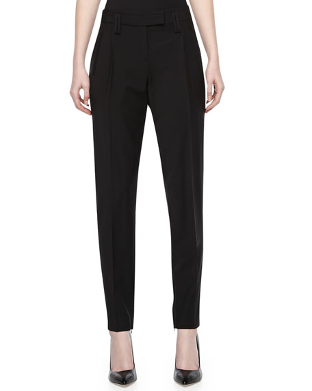 Wool-Stretch Slim Pants