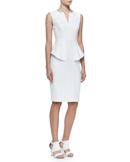 Sashi Jacquard/Gabardine Peplum Dress