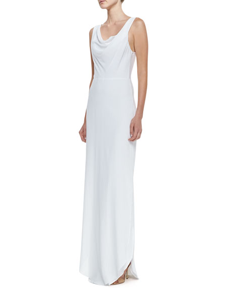Shae Drape-Neck Cotton Maxi Dress