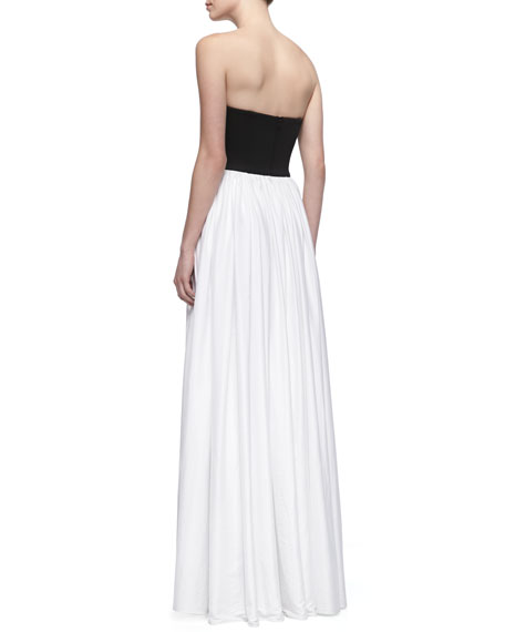 Chardonnay Two-Tone Strapless Gown