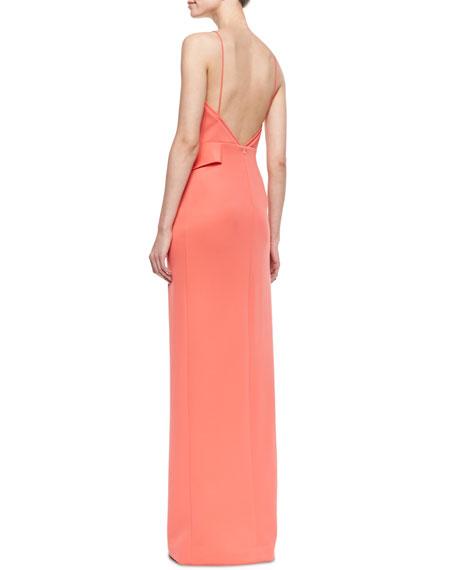 Eminence Faux-Wrap Neoprene Gown